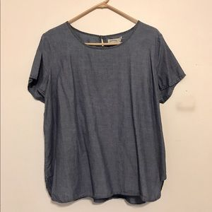 Denim Colored Top - Large